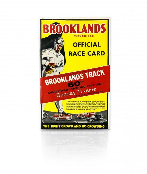 Brooklands Official Race Card 1967