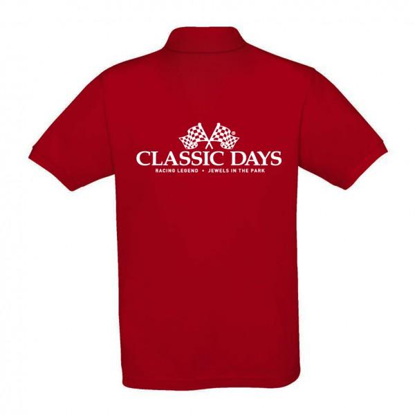 Herren Poloshirt | Classic Days Logo | bordeaux