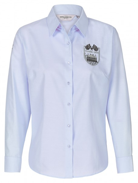 Bluse mit Wappen | hellblau