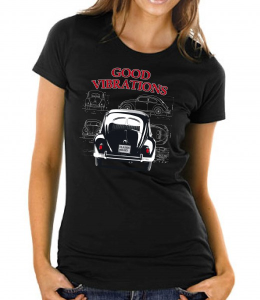 "T-Shirt | VW Käfer ""Good Vibrations"" 