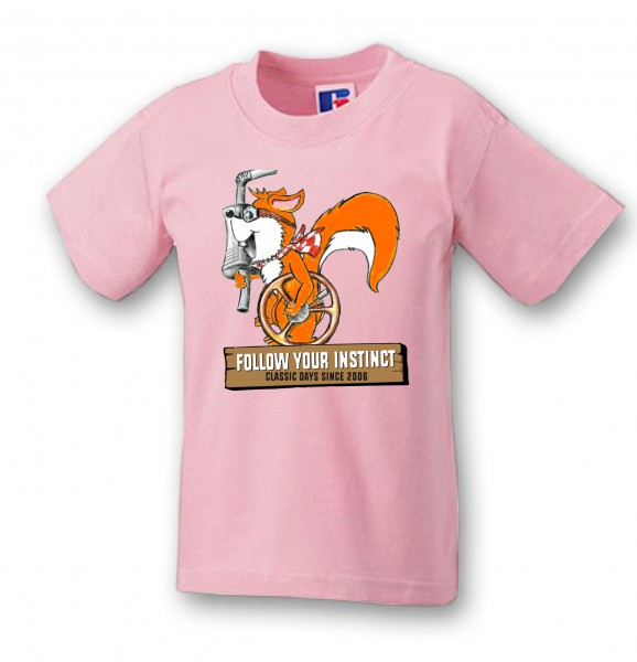 "Kinder T-Shirt ""Rusty Eichhorn"" | rosa"