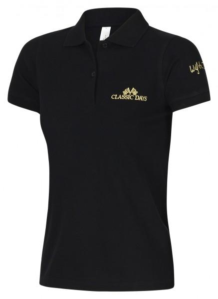 Damen Polo Shirt schwarz | Classic Days