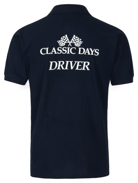 Herren Poloshirt schwarz | Classic Days Driver