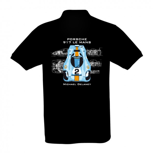 Poloshirt | Porsche 917 Le Mans | schwarz