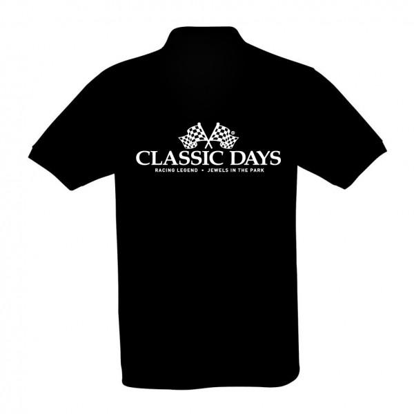 Herren Poloshirt | Classic Days Logo | schwarz